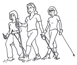 Kirche unterwegs - Spazieren - Walken - Wandern - für Frauen @ Hornbach, Goffingsmühle